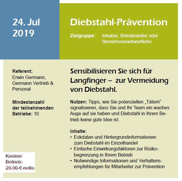 Webinar Diebstahl-Prävention